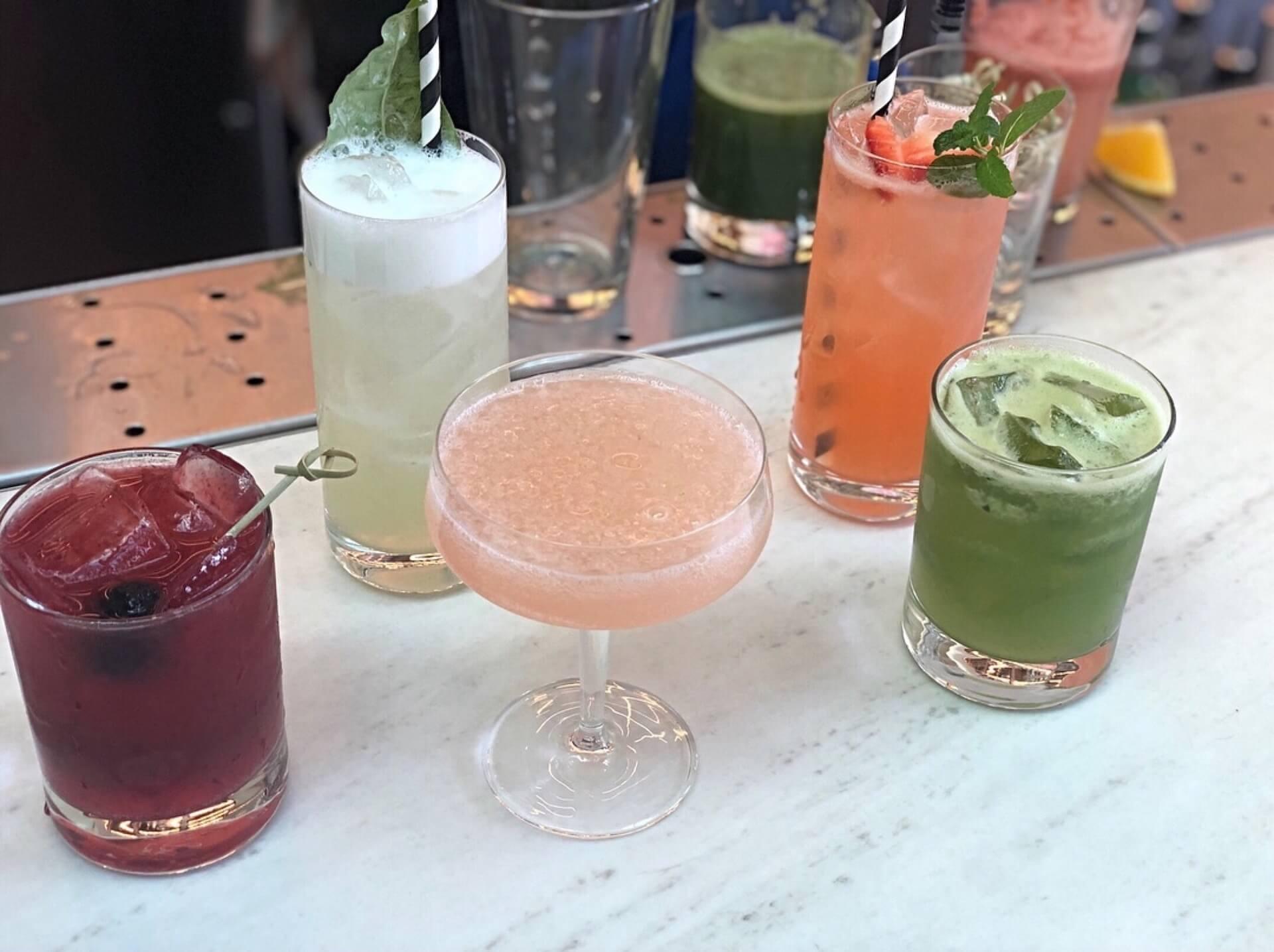 assortment of drinks